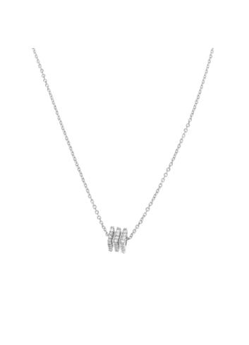 10008376 Naszyjnik srebrny pr.925 z cyrkoniami