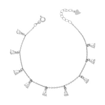 10012438 Bransoletka srebrna pr.925 z cyrkoniami