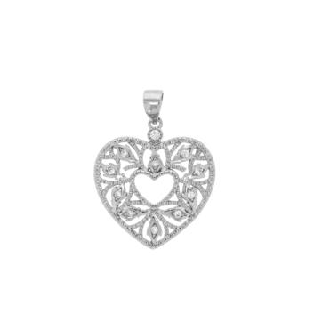 10012240 Wisiorek srebrny pr.925 z cyrkoniami