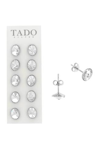 10008000 Kolczyki srebrne pr.925 z kryształami