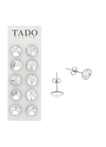 10003524 Kolczyki srebrne pr.925 z kryształami