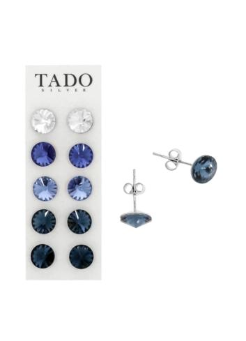 10003528 Kolczyki srebrne pr.925 z kryształami