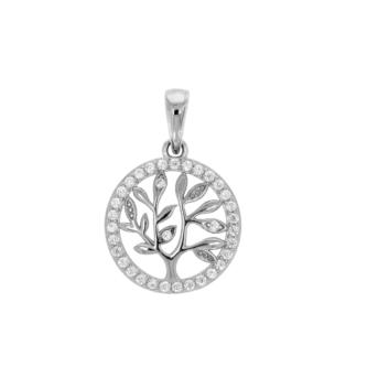 10017471 Wisiorek srebrny pr.925 z cyrkoniami