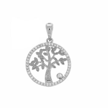 10017520 Wisiorek srebrny pr.925 z cyrkoniami