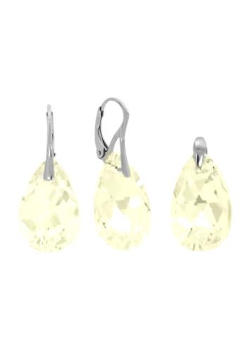 10003538 Komplet srebrny pr.925 z kryształami