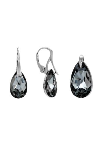 10003542 Komplet srebrny pr.925 z kryształami