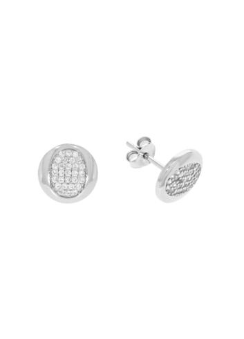10008368 Kolczyki srebrne pr.925 z cyrkoniami