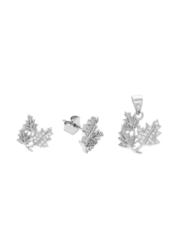 10005896 Komplet srebrny pr.925 z cyrkoniami