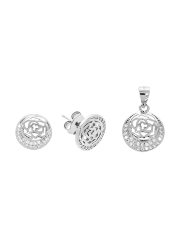 10005910 Komplet srebrny pr.925 z cyrkoniami