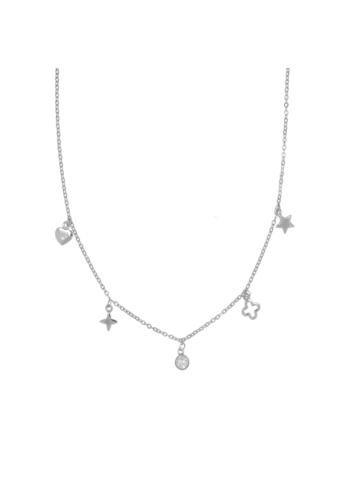 10006652 Naszyjnik srebrny pr.925 z cyrkoniami